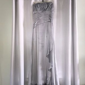 Silver bridesmaid/event dress.